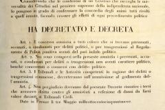 Concessione dell'Amnistia per reati politici - 3 maggio 1859